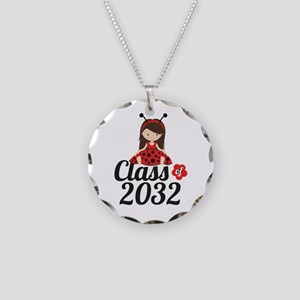 Class of 2032 Necklace Circle Charm