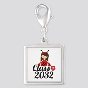 Class of 2032 Silver Square Charm