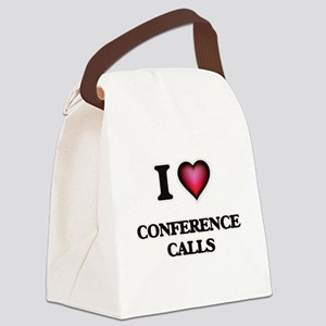I love Conference Calls Canvas Lunch Bag