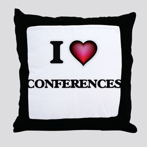 I love Conferences Throw Pillow