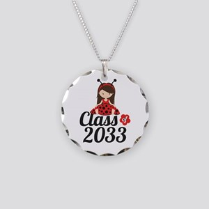 Class of 2033 Necklace Circle Charm