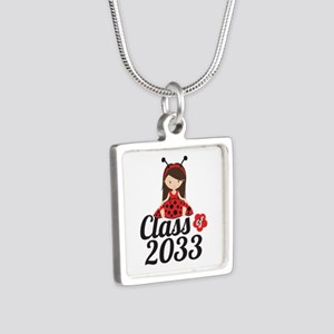 Class of 2033 Silver Square Necklace
