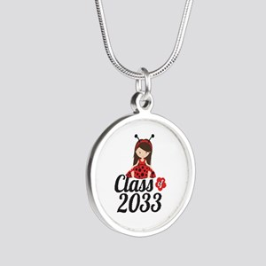 Class of 2033 Silver Round Necklace