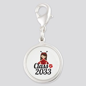 Class of 2033 Silver Round Charm