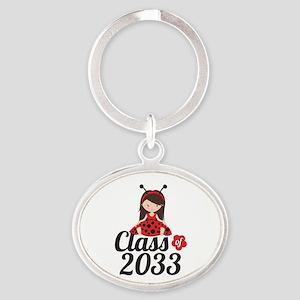 Class of 2033 Oval Keychain