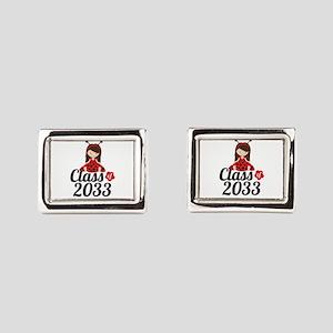Class of 2033 Rectangular Cufflinks