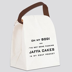 Spaced Jaffa Cakes Canvas Lunch Bag