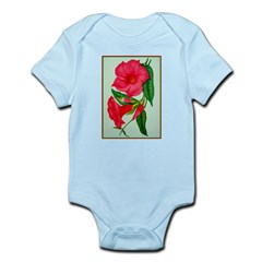 Red Morning Glorys Body Suit