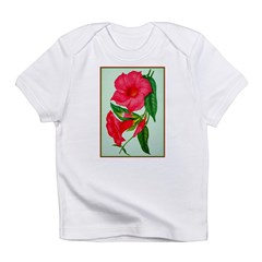 Red Morning Glorys Infant T-Shirt