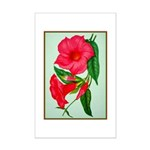 Red Morning Glorys Poster Print