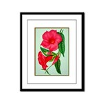Red Morning Glorys Framed Panel Print