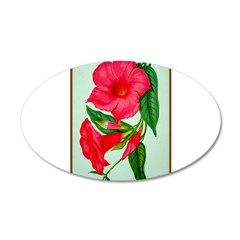 Red Morning Glorys Decal Wall Sticker