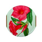 """Red Morning Glorys 3.5"""" Button (100 pack)"""
