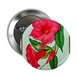 """Red Morning Glorys 2.25"""" Button (100 pack)"""