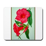 Red Morning Glorys Mousepad