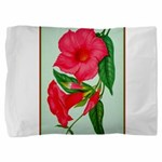 Red Morning Glorys Pillow Sham