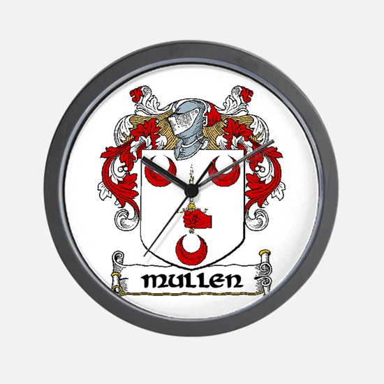 Mullen Coat of Arms Wall Clock