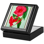Red Morning Glorys Keepsake Box