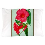 Red Morning Glorys Pillow Case