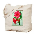 Red Morning Glorys Tote Bag