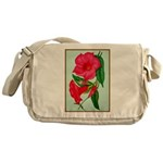 Red Morning Glorys Messenger Bag