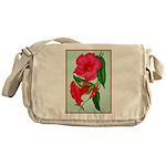 Red Morning Glorys Messenger Bag