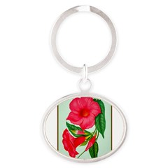 Red Morning Glorys Keychains