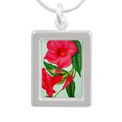 Red Morning Glorys Necklaces