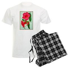 Red Morning Glorys pajamas