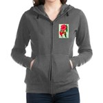 Red Morning Glorys Women's Zip Hoodie