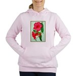 Red Morning Glorys Women's Hooded Sweatshirt