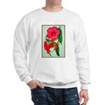 Red Morning Glorys Sweater