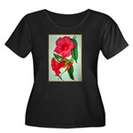 Red Morning Glorys Plus Size T-Shirt