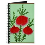 String Bell Vintage Flower Print Journal