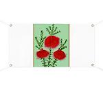 String Bell Vintage Flower Print Banner