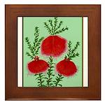 String Bell Vintage Flower Print Framed Tile
