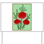 String Bell Vintage Flower Print Yard Sign