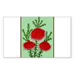 String Bell Vintage Flower Print Sticker