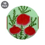 "String Bell Vintage Flower Print 3.5"" Button (10 p"