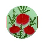 String Bell Vintage Flower Print Button