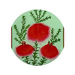 String Bell Vintage Flower Print Button