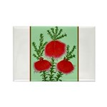 String Bell Vintage Flower Print Magnets