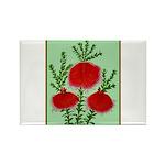 String Bell Vintage Flower Print Magnets