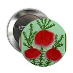 "String Bell Vintage Flower Print 2.25"" Button (100"