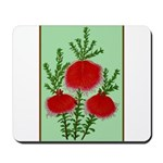 String Bell Vintage Flower Print Mousepad
