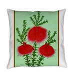 String Bell Vintage Flower Print Everyday Pillow