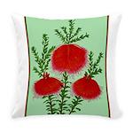 String Bell Vintage Flower Print Everyday Pillow