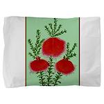 String Bell Vintage Flower Print Pillow Sham