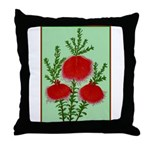 String Bell Vintage Flower Print Throw Pillow