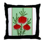 String Bell Vintage Flower Print Throw Pillow